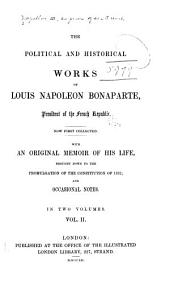 The Political and Historical Works of Louis Napoleon Bonaparte ...: Analysis of the sugar question