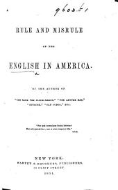 "The English in America. By the Author of ""Sam Slick,"" etc. i.e. T. C. Haliburton"