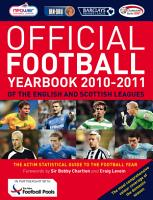 The Official Football Yearbook of the English and Scottish Leagues 2010 2011 PDF
