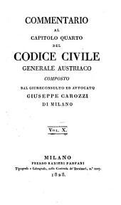 Commentario al codice civile universale austriaco: Volume 10