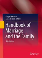 Handbook of Marriage and the Family PDF