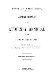 Biennial Report and Opinions of the Attorney General of the State of Washington