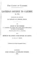 Lacerda s Journey to Cazembe in 1798 PDF
