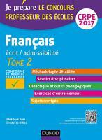 Fran  ais   Professeur des   coles   Ecrit  admissibilit     T2   CRPE 2017 PDF