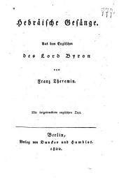 Hebräische Gesänge: mit beygedrucktem englischen Text