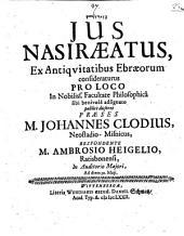 Nezîrût, ius Nasiraeatus: ex antiquitatibus Ebraeorum consideraturus