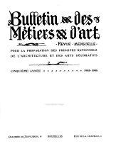 Bulletin des métiers d'art: Volume5