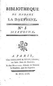 Bibliotheque de Madame la Dauphine: Volume1