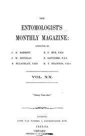 The Entomologist's Monthly Magazine: Volume 20