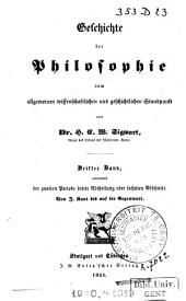 Geschichte der Philosophie vom allgemeinen wissenschaftlichen und geschichtlichen Standpunkt: Band 3