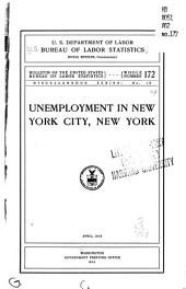 Unemployment in New York City, New York: Issues 169-173