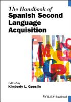 The Handbook of Spanish Second Language Acquisition PDF