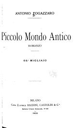Piccolo mondo antico: romanzo