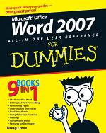 Word 2007 All-in-One Desk Reference For Dummies