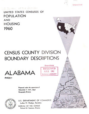 United States Censuses of Population and Housing  1960  Census County Division Boundary Descriptions