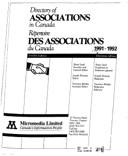 Directory of Associations in Canada PDF