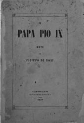 Il Papa Pio IX. Note