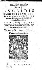 Elementa geometrica: libri sex