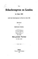 Der schachcongresse zu London im jahre 1862 PDF
