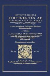 Sententiae selectae pertinentes ad materiam praxios rerum criminalium et aliarum partium iuris scientiarumque