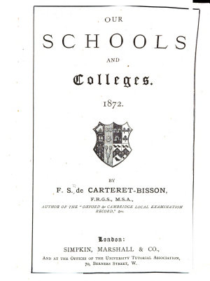 Our Schools and Colleges