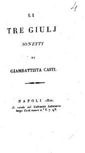 Li tre Giulj sonetti di Giambattista Casti