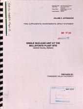 Bellefonte Nuclear Plant: Environmental Impact Statement