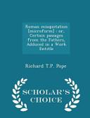 Roman Misquotation [Microform]