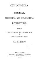 Cyclopaedia of Biblical  Theological  and Ecclesiastical Literature  Rh St PDF
