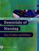 Study Guide to Accompany Essentials of Nursing PDF