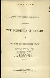 Report of and Testimony: Volume 9