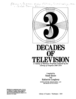 3 Decades of Television PDF