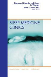Sleep and Disorders of Sleep in Women, An Issue of Sleep Medicine Clinics