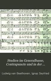 Studien im Generalbasse, Contrapuncte und in der Compositions-Lehre
