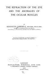 The Refraction of the Eye and the Anomalies of the Ocular Muscles