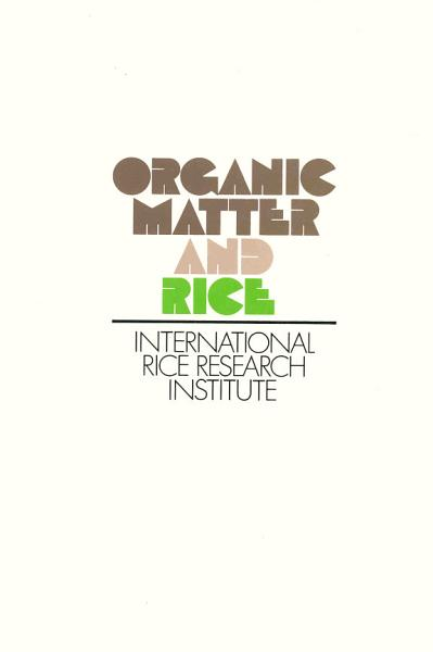 Download Organic Matter and Rice Book