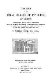 The Roll of the Royal College of Physicians of London: 1801 to 1825