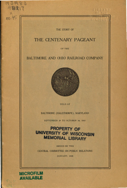 The Story of the Centenary Pageant of the Baltimore and Ohio Railroad Company PDF