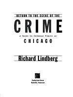 Return to the Scene of the Crime PDF