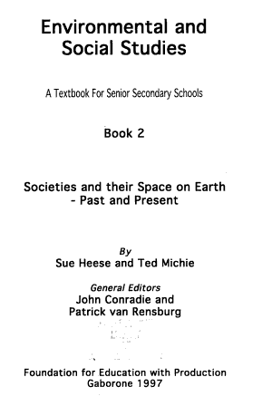 Environmental and Social Studies PDF