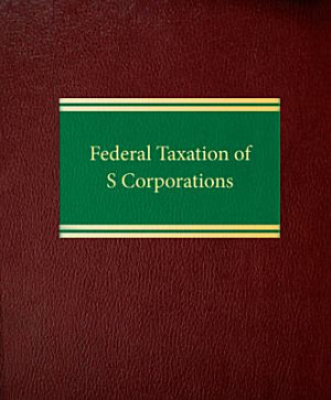 Federal Taxation of S Corporations PDF