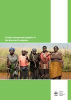 Gender situational analysis of the Barotse Floodplain PDF