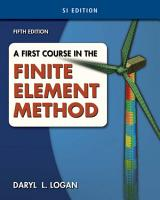 A First Course in the Finite Element Method  SI Version PDF