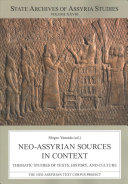 Neo Assyrian Sources in Context PDF