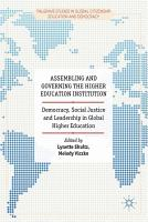 Assembling and Governing the Higher Education Institution PDF