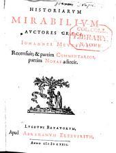 Historiarum mirabilium auctores Graeci