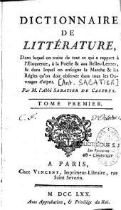 Dictionnaire de littérature