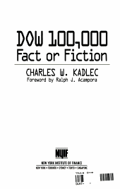 Dow 100 000 Fact Or Fiction
