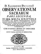 Observationum sacrarum: Volume 2