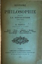 Histoire de la philosophie pendant la révolution (1789-1804)
